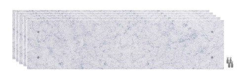 Wall-Mounted Standoff SoundSorb Acoustic Panels 1' x 4' Marble Gray Bulk Pack