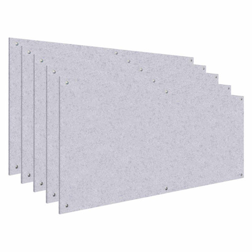 Wall-Mounted Standoff SoundSorb Acoustic Panels 4' x 8' Marble Gray Bulk Pack