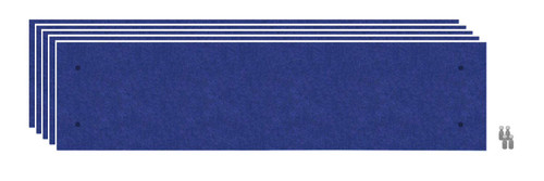 Wall-Mounted Standoff SoundSorb Acoustic Panels 1' x 4' Blue Bulk Pack