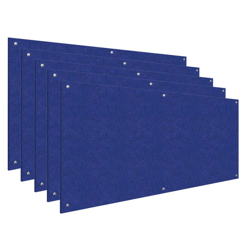 Wall-Mounted Standoff SoundSorb Acoustic Panels 4' x 8' Blue Bulk Pack