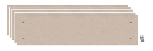 Wall-Mounted Standoff SoundSorb Acoustic Panels 1' x 4' Beige Bulk Pack