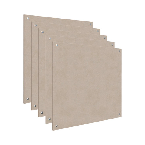 Wall-Mounted Standoff SoundSorb Acoustic Panels 4' x 4' Beige Bulk Pack