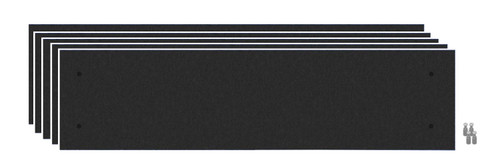 Wall-Mounted Standoff SoundSorb Acoustic Panels 1' x 4' Black Bulk Pack