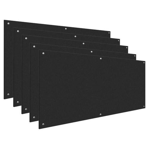 Wall-Mounted Standoff SoundSorb Acoustic Panels 4' x 8' Black Bulk Pack