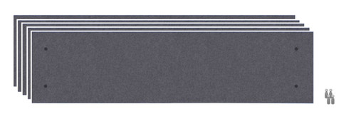 Wall-Mounted Standoff SoundSorb Acoustic Panels 1' x 4' Dark Gray Bulk Pack