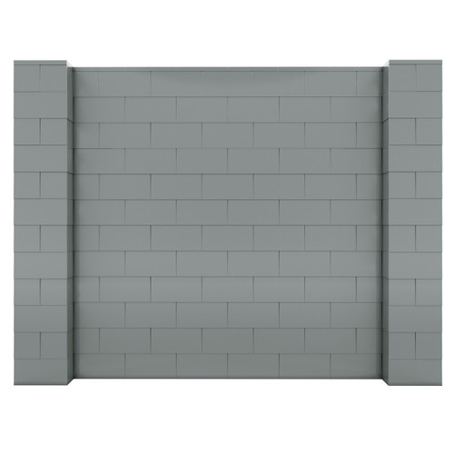 The EverBlock wall kit with silver blocks.