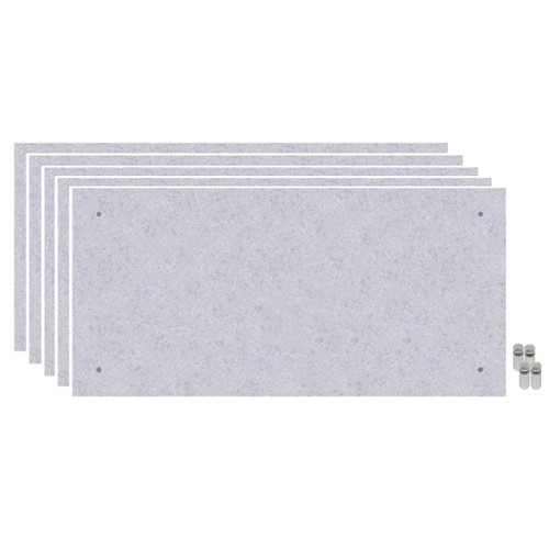 Wall-Mounted Standoff SoundSorb Acoustic Panels 2' x 4' Marble Gray Bulk Pack