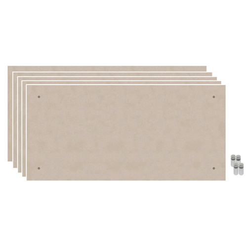 Wall-Mounted Standoff SoundSorb Acoustic Panels 2' x 4' Beige Bulk Pack