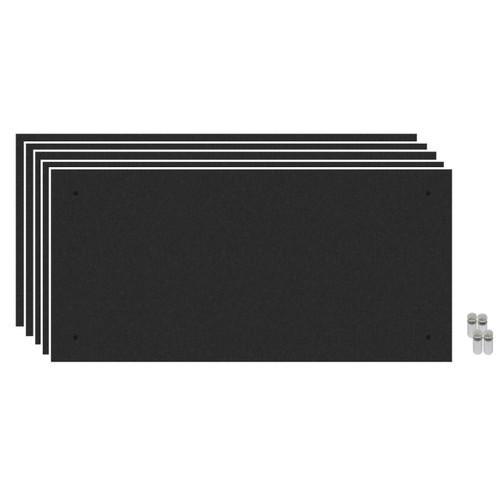 Wall-Mounted Standoff SoundSorb Acoustic Panels 2' x 4' Black Bulk Pack
