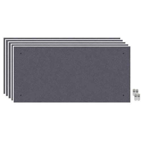 Wall-Mounted Standoff SoundSorb Acoustic Panels 2' x 4' Dark Gray Bulk Pack