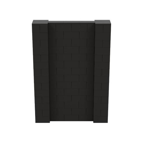 5' x 7' Black Simple Block Wall Kit