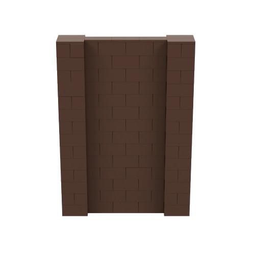 5' x 7' Brown Simple Block Wall Kit