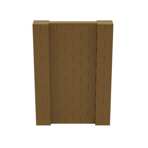 5' x 7' Gold Simple Block Wall Kit