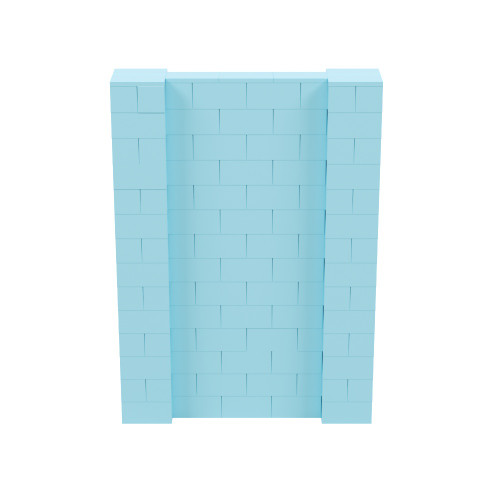 5' x 7' Light Blue Simple Block Wall Kit