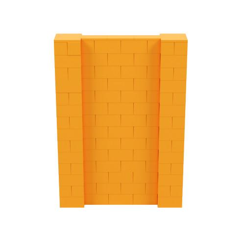 5' x 7' Orange Simple Block Wall Kit
