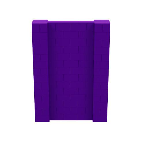5' x 7' Purple Simple Block Wall Kit