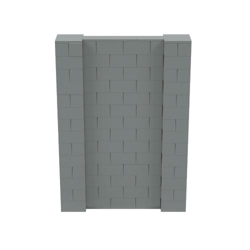 5' x 7' Silver Simple Block Wall Kit