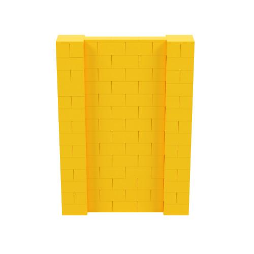 5' x 7' Yellow Simple Block Wall Kit