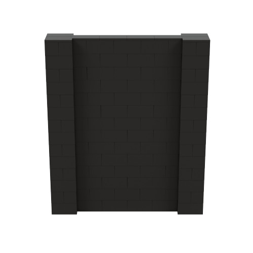 6' x 7' Black Simple Block Wall Kit