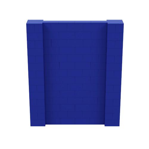 6' x 7' Blue Simple Block Wall Kit
