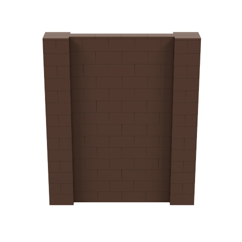 6' x 7' Brown Simple Block Wall Kit