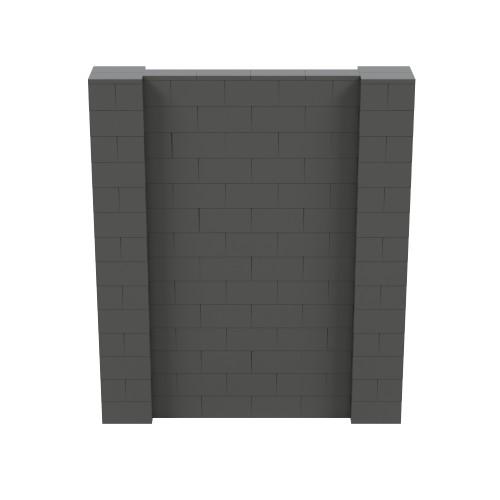 6' x 7' Dark Gray Simple Block Wall Kit