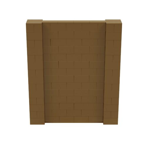 6' x 7' Gold Simple Block Wall Kit