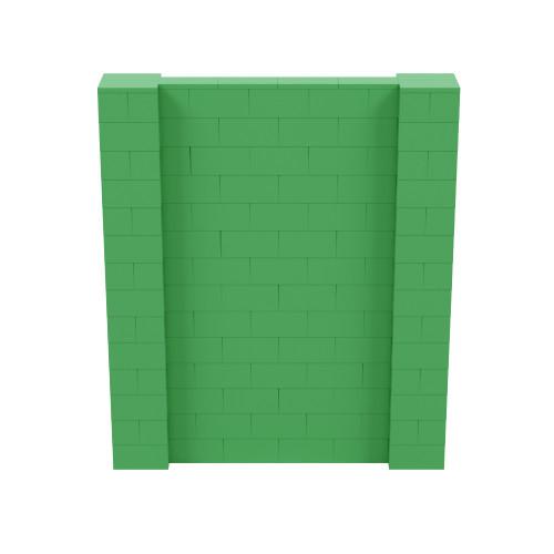 6' x 7' Green Simple Block Wall Kit