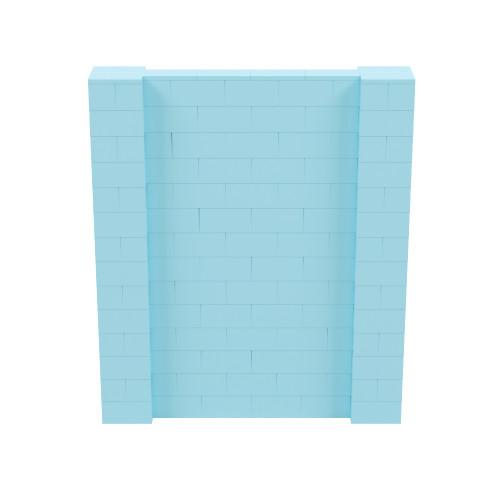 6' x 7' Light Blue Simple Block Wall Kit