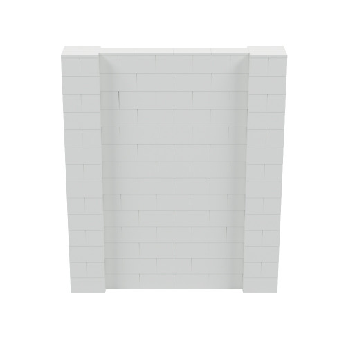 6' x 7' Light Gray Simple Block Wall Kit