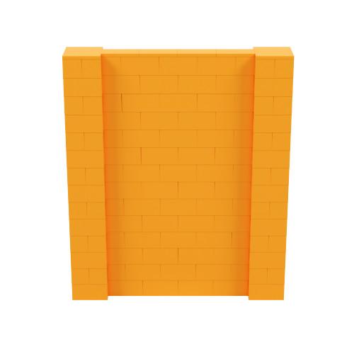 6' x 7' Orange Simple Block Wall Kit