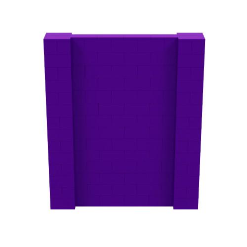 6' x 7' Purple Simple Block Wall Kit