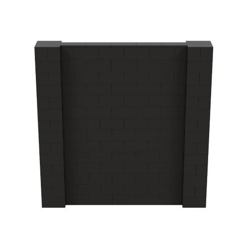 7' x 7' Black Simple Block Wall Kit