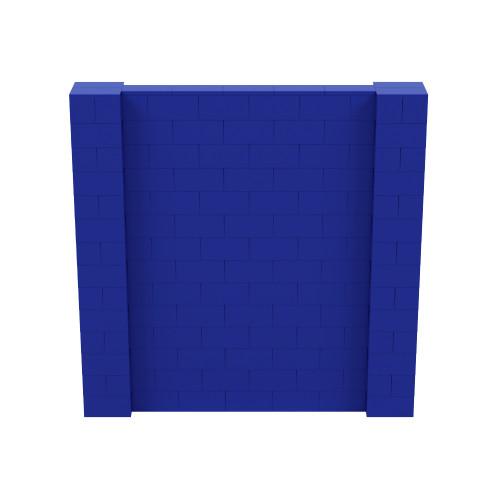 7' x 7' Blue Simple Block Wall Kit