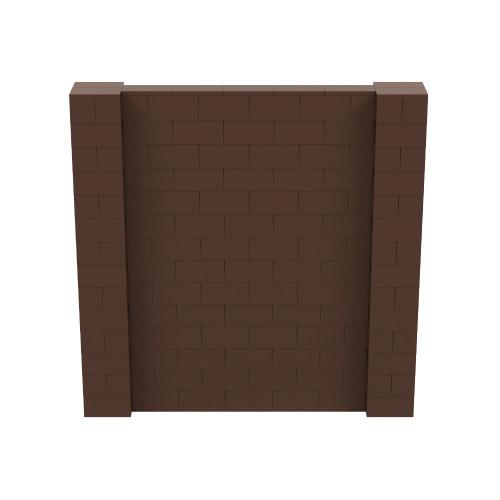 7' x 7' Brown Simple Block Wall Kit