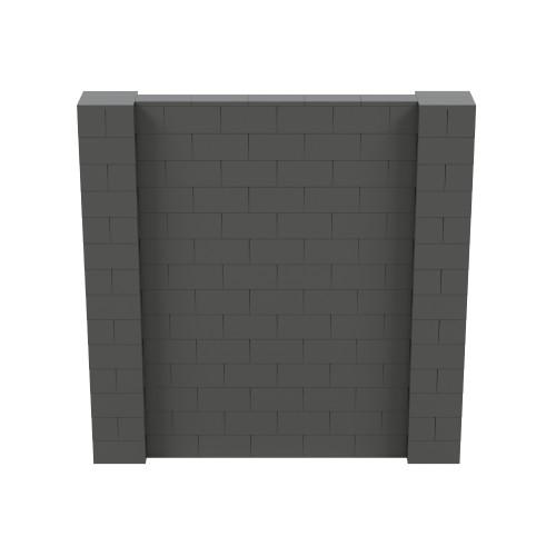 7' x 7' Dark Gray Simple Block Wall Kit