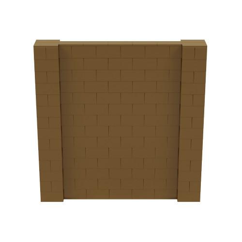 7' x 7' Gold Simple Block Wall Kit