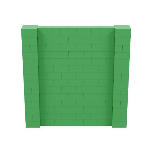 7' x 7' Green Simple Block Wall Kit