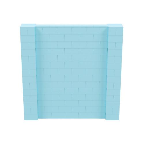 7' x 7' Light Blue Simple Block Wall Kit