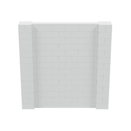 7' x 7' Light Gray Simple Block Wall Kit