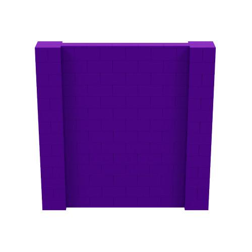 7' x 7' Purple Simple Block Wall Kit