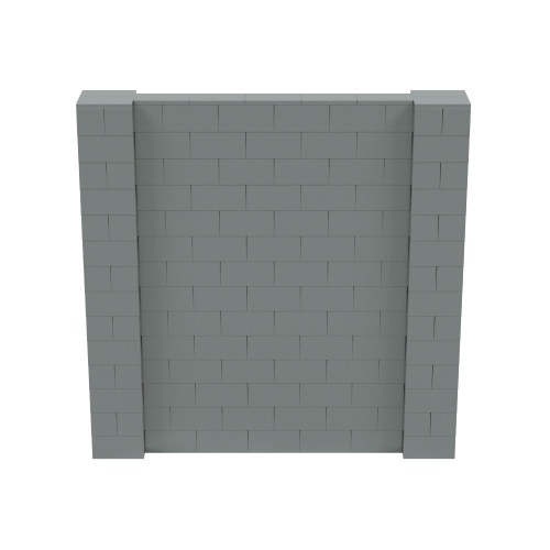7' x 7' Silver Simple Block Wall Kit