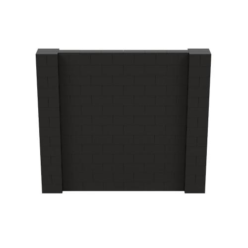 8' x 7' Black Simple Block Wall Kit