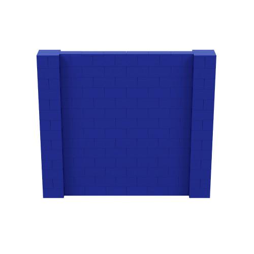 8' x 7' Blue Simple Block Wall Kit