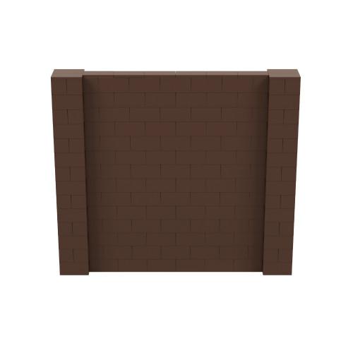 8' x 7' Brown Simple Block Wall Kit