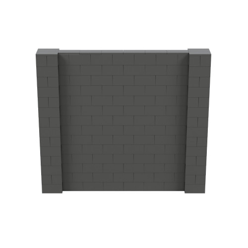8' x 7' Dark Gray Simple Block Wall Kit