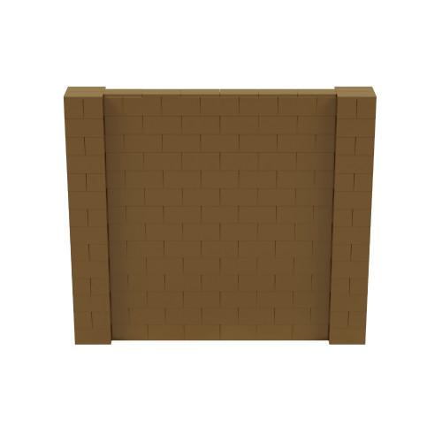 8' x 7' Gold Simple Block Wall Kit