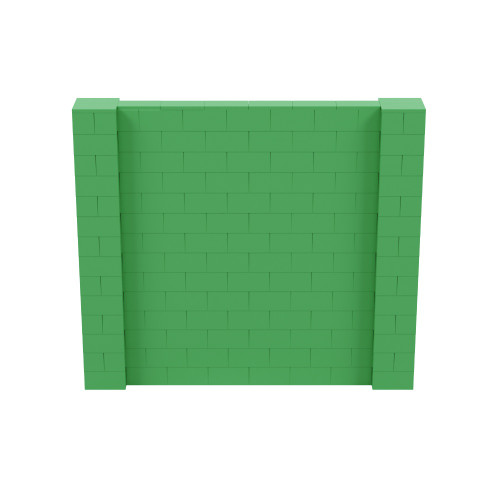 8' x 7' Green Simple Block Wall Kit