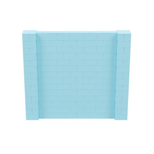 8' x 7' Light Blue Simple Block Wall Kit