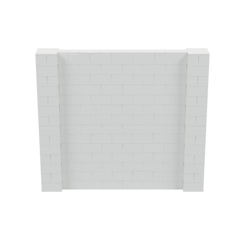8' x 7' Light Gray Simple Block Wall Kit
